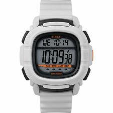 Timex мужские часы команд цифровой серый циферблат белый резиновый ремешок TW5M26400