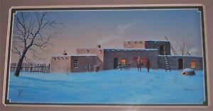 "Signed JIM HORTON Original Acrylic Painting on Paper ""ADOBE"""