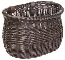 FRONT BICYCLE BIKE BASKET LARGE WILLOW WICKER BASKET BROWN BE90138