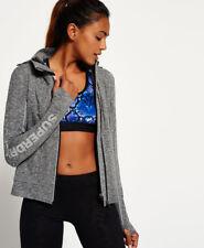 Superdry Core Gym Ziphood Sweatshirts M-speckle Charcoal