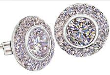Elizabeth Grant Diamonelle Sterling Silver Earrings