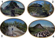 4 antichi dipinti ovali XIX secolo