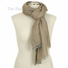 APT. 9 Textured BEIGE, GREY & Metallic GOLD SCARF Sparkle OBLONG Frosted Oatmeal