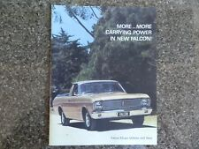 1968 FORD XT UTE AND VAN SALES BROCHURE   100% GUARANTEE