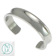 Fashion Men Women Solid Stainless Steel Open End Cuff Bangle Bracelet Silver