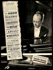 1948 Columbia Records Rudolf Serkin Pianist Vintage Print Ad Musical Lineup 40s