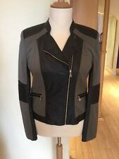 Gerry Weber Biker Jacket Size 14 Khaki Black RRP £170 Now £68