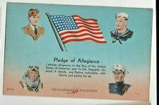 Patriotic Postcard: Pledge of Allegiance