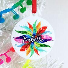 Personalised Christmas Decoration, Custom Christmas Tree Ornament for girl, Gift