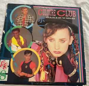 Culture Club Couleur Par Chiffres Record Album Vinyle Vtg 1983 Boy George