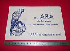 BUVARD CIRAGE ARA CHAUSSURES LA BRILLANTINE DU CUIR 1950-1960