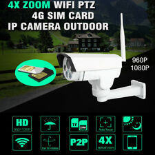 4G Wireless IP Camera HD 1080P PTZ 4X Optical Zoom Waterproof IR CCTV For US