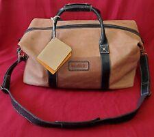 Timberland Pikes Peak Brown Genuine Leather Duffle Bag NWT