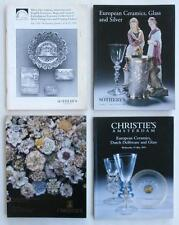 4 Auction Catalogs ~ Ceramics, Porcelain, Glass, Silver ~ Sotheby's & Christie's