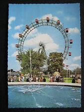 Vienna Austria Amusement Park The Prater Ferris Wheel Deckle Edge 4x6 Postcard