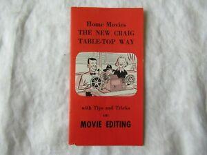 Kalart table-top Film Movie Editing tips and tricks brochure booklet