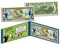 ITALY FLAG SERIES $2 U.S Bill Genuine Legal Tender Bank Note