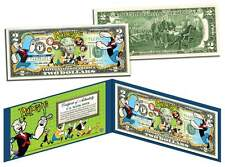 POPEYE & GANG Genuine Legal Tender U.S. $2 Bill *OFFICIALLY LICENSED* w/ Holder