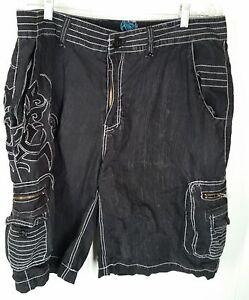 Roar mens black cargo Shorts size 38