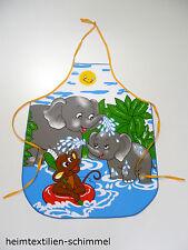 Kinder Schürze Kochschürze Backschürze Küchenschürze Kinderwerkschürze ELEFANT