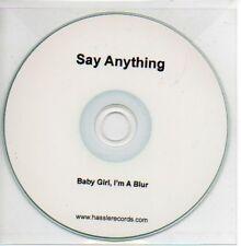 (750B) Say Anything, Baby Girl I'm A Blur - DJ CD