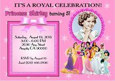DISNEY PRINCESS CUSTOM PRINTABLE PHOTO BIRTHDAY PARTY INVITATION & FREE TY CARD