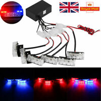18 LED Car Truck Police Red/Blue Strobe Warning Flashing Grill Light Dash Lamp