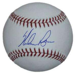 Nolan Ryan Autographed/Signed Texas Rangers OML Baseball BAS 31262