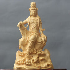 Fine Chinese Boxwood handwork carving Free Guanyin figure statue