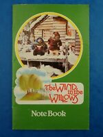 Vintage 1983 Unused THE WIND IN THE WILLOWS NOTEBOOK Retro Stationery