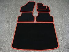 Car Mats in Black/Red Trim to fit VW/Volkswagen Tiguan (2007-2016) + Boot Mat
