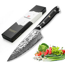 "6.5"" inch Damascus Chef's Knife Japanese AUS-10 Steel Kitchen Knives G10 Handle"