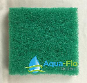 """Aqua-Flo Four-Pack Green Pond Filter Mat/Media/Pad 12""""x12"""" -water garden-skimmer"""