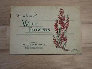 WILLS'S CIGARETTE PICTURE CARDS - WILD FLOWERS ALBUM - REF D30