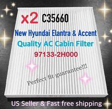 x2 HYUNDAI 07-13 Elantra & 11 Accent C35660 AC CABIN FILTER +Free Fast Ship!@_@