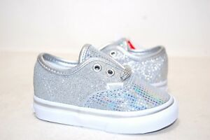 Vans Toddler Authentic Metallic Glitter Sliver VN0A38E7UJ0