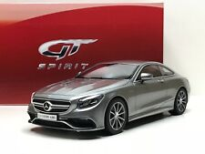 1:18 Mercedes Benz S 63 AMG Coupé año 2015 color Gris GT Spirit GT063