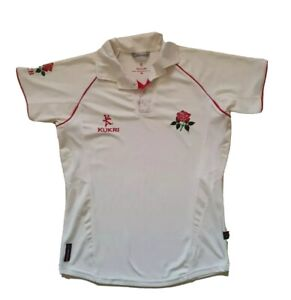 LANCASHIRE CRICKET SHIRT JERSEY KUKRI RED ROSE OFFICIAL TEAM PRODUCT SIZE S (42)