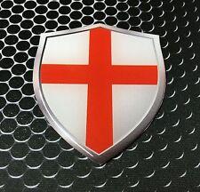 "England Flag Shield Proud Domed Decal Emblem Car Sticker 3D 2.3""x 3"" London"