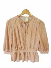 Size Regular 3/4 Sleeve Solid Tops & Blouses for Women