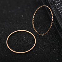 Ladies Thin Slim Rose Gold Stacking Knuckle Ring Small Finger Ring Jewelry G