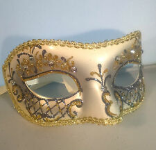 Pastel Silver Filigree Eye Mask Fancy Dress Masquerade Costume Hen Party