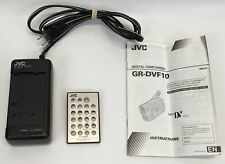 JVC Camcorder Battery Charger Adapter AA-V15 Remote RM-V712U & GR-DVF10 Manual