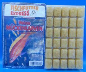 40x 100g Weiße Mückenlarven, Frostfutter, Fischfutter