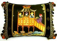 Clarence House, Les Fetes D'Orient Chinoiserie accent Pillow W/ insert