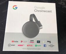 Google Chromecast 3rd Generation, Charcoal, Brand New & Sealed