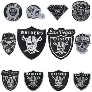 Wholesale Raiders Nation Football Mix Brand Sew Embroidered Iron on Patch Random