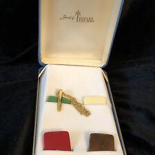 Rare Vintage Trifari Interchangeable Bakelite Necklace - 4 Colors w/ Box