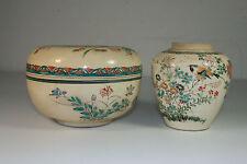 Boite ronde et potiche en porcelaine du JAPON - Satsuma? - Japanese porcelain
