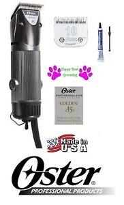Oster Dorado A5 2 Velocidad Clipper&10 Desmontable Hoja Perro Gato Mascota Horse